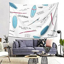 FOURFOOL Wall Hanging Tapestry,Blue Surfboards