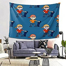FOURFOOL Wall Hanging Tapestry,Boy With Skateboard