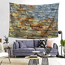 FOURFOOL Wall Hanging Tapestry,Brick Wall Grey And
