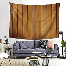 FOURFOOL Wall Hanging Tapestry,Brown Wooden Plank