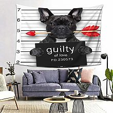 FOURFOOL Wall Hanging Tapestry,Bulldog Dog With