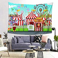 FOURFOOL Wall Hanging Tapestry,Carnival With Many