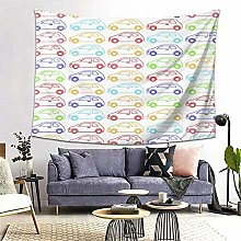 FOURFOOL Wall Hanging Tapestry,Cars Pattern,Beach