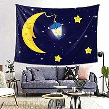 FOURFOOL Wall Hanging Tapestry,Cartoon Moonlit