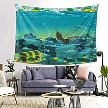 FOURFOOL Wall Hanging Tapestry,Cartoon Seascape