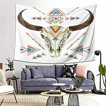 FOURFOOL Wall Hanging Tapestry,Cow Skull In Tribal