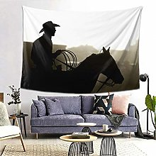 FOURFOOL Wall Hanging Tapestry,Cowboy With Horse