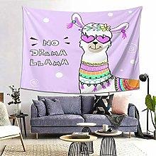 FOURFOOL Wall Hanging Tapestry,Cute Cartoon Llama