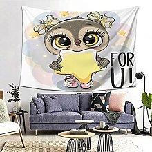 FOURFOOL Wall Hanging Tapestry,Cute Cartoon Owl