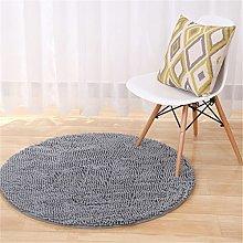 Fouriding Indoor Round Chenille Area Rug Flexible