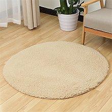 Fouriding Soft Artificial Berber Fleece Round Rug