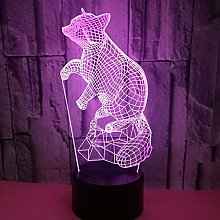 Fox 3D Night Light Table Lamp Colorful Creative 3D