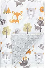 Fox baby blanket boy print soft mink baby blanket