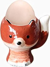 Fox Porcelain Egg Cups, Breakfast Eggs Holder Cup