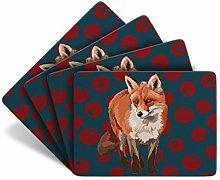 Fox - Set of 4 Table Mats - Leslie Gerry Animal