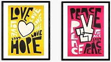 Fox & Velvet - 'Love' & 'Peace'