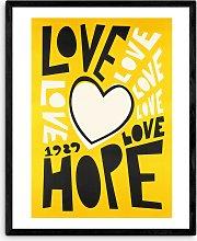 Fox & Velvet - 'Love' Wood Framed Print,