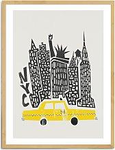 Fox & Velvet - 'New York Citiscape' Wood