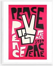 Fox & Velvet - 'Peace' Wood Framed Print,