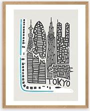 Fox & Velvet - 'Tokyo Citiscape' Wood