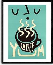 Fox & Velvet - 'Yum Coffee' Wood Framed
