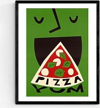 Fox & Velvet - 'Yum Pizza' Wood Framed