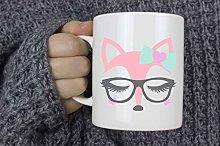 Fox with Glasses Coffee Mug