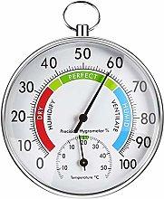 FOXNSK Hygrometer Thermometer, 11cm Indoor Outdoor
