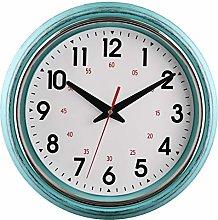 Foxtop 30 cm Blue Silent Non-ticking Wall Clock,