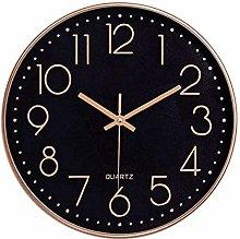 Foxtop Black Wall Clock Silent Non-Ticking Arabic