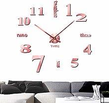 Foxtop Frameless Clock Large 3D DIY Wall Clocks