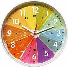 Foxtop Kids Wall Clock, 10 inch Silent Non-Ticking