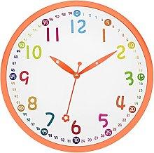 Foxtop Kids Wall Clock, Silent Non Ticking - 12