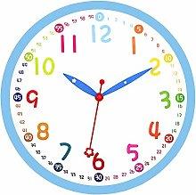 Foxtop Kids Wall Clock Silent Non-Ticking Sweep