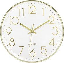 Foxtop Modern Wall Clock, Silent Non-Ticking