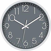 Foxtop Non-Ticking Wall Clock Silent Battery