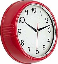 Foxtop Retro Wall Clock Silent Non-Ticking Round