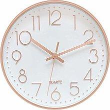 Foxtop Rose Gold Wall Clock Silent Non-Ticking