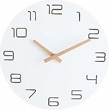 Foxtop Round Stylish Modern Wall Clock Wooden