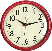 Foxtop Silent Non-Ticking Retro Wall Clock with