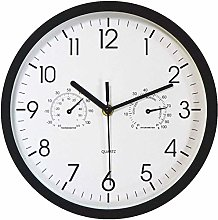 Foxtop Silent Wall Clock with Temperature &