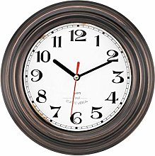 Foxtop Small Metal Wall Clock, Retro 8 Inch Silent