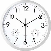 Foxtop Wall Clock and Thermometer Indoor