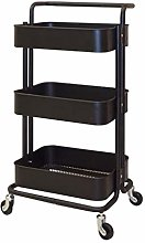Foyer Rack 3 Tier Home Kitchen Mesh Utility Cart,