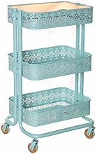 Foyer Rack 3-tier Kitchen Cart with Wooden