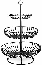 FOYO 3-Tier Fruit Basket Bowl, Countertop Fruit