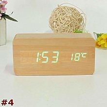 FPRW Digital Alarm Clock, Modern Wooden Wood