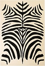 Frady Beige/Black Rug by Bloomsbury Market -