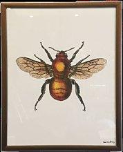 Framed Art - Framed Bee Print (25x20) -
