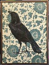 Framed Art - Framed Blue Raven Flower Print